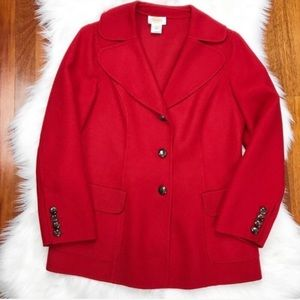 {Talbots} Red 100% Wool Jacket/Coat